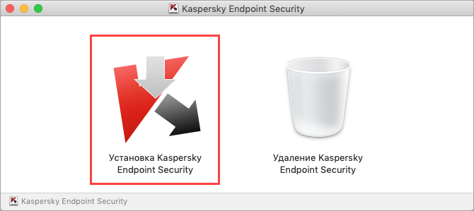 Запуск установки Kaspersky Endpoint Security 11 для Mac